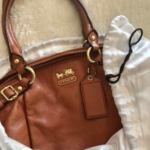 COACH Madison leather Lindsey satchel
